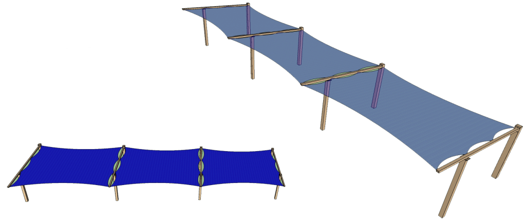 Flat Panel Shade Structure Concept
