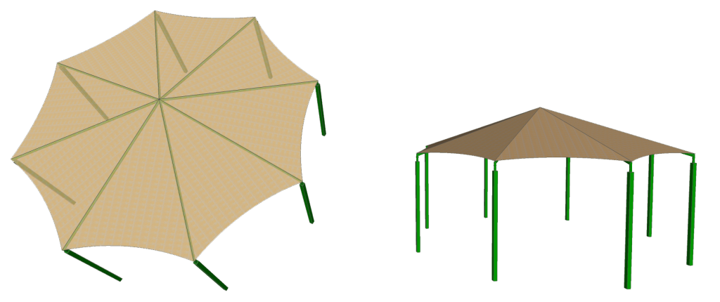 Octagon Shade Structure Concept