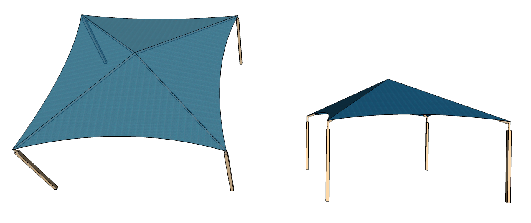 Pyramid Shade Structure
