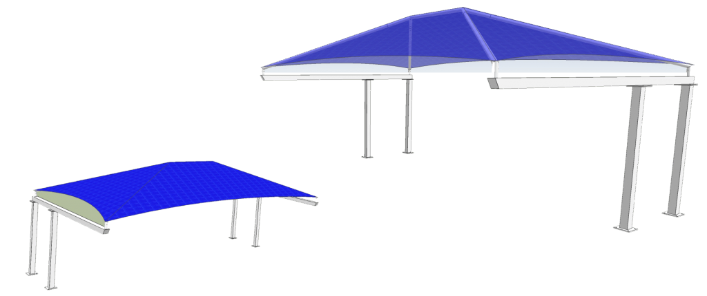 Semi Cantilever Shade Structure
