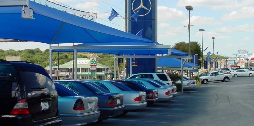 Auto Dealership Shade Sails