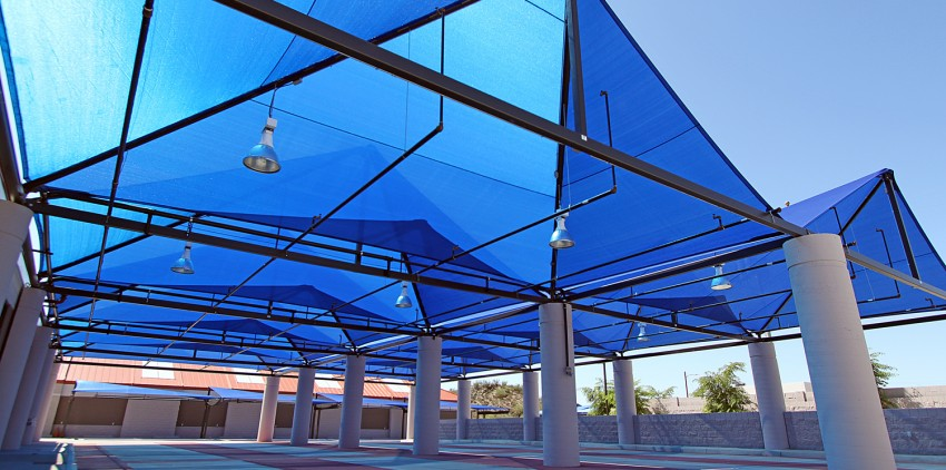 car wash shade sails