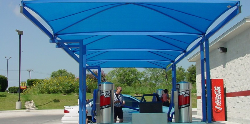 car wash shade structure