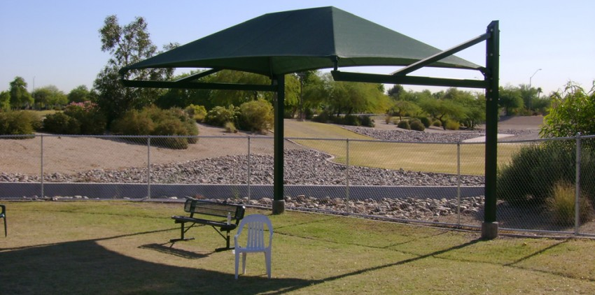 dog park shade sails az