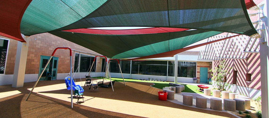 COMMERCIAL SHADE SOLUTIONS FOR SCHOOLS & DAYCARES